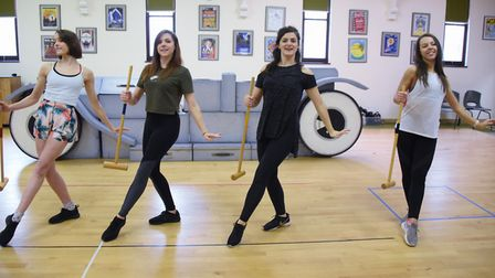Rehearsals get under way for this year's Theatre Royal panto, Sleeping Beauty. Dancers try out a dan