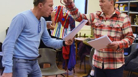 Rehearsals get under way for this year's Theatre Royal panto, Sleeping Beauty. Richard Gauntlett, ri