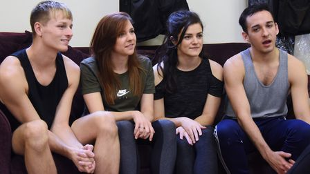 Rehearsals get under way for this year's Theatre Royal panto, Sleeping Beauty. Local dancers in the