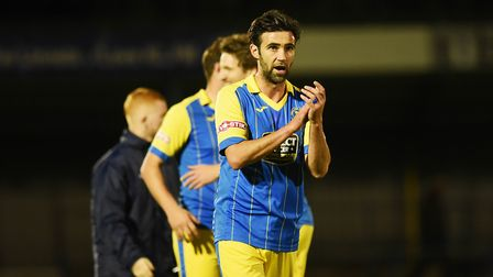 Simon Lappin scored his first goal for King's Lynn Town in their big win at St Neots. Picture: Ian B