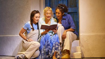 Norfolk actress Harriet Bunton (left) is currently starring in Mamma Mia! at the Novello Theatre in
