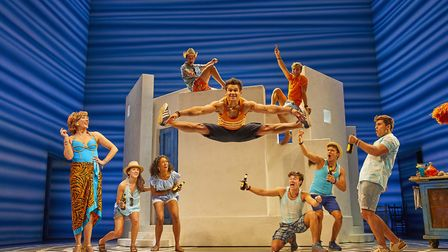 Norfolk actress Harriet Bunton (pictured second left) is currently starring in Mamma Mia! at the Nov