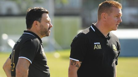 Great Yarmouth joint managers, Martyn Sinclair, left, and Adam Mason. Picture: DENISE BRADLEY