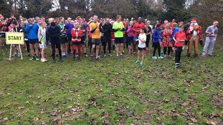Runners get into the festive spirit in fancy dress. Picture: Rebecca Murphy