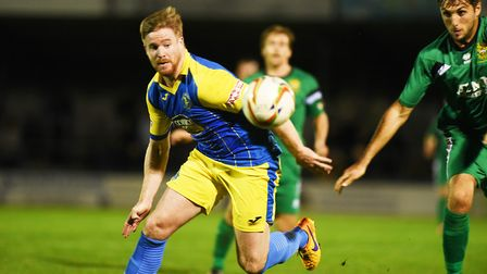 Michael Gash scored the only goal of the game at Merthyr. Picture: Ian Burt