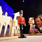 Norwich Puppet Theatre Christmas show, The Steadfast Tin Soldier. Puppeteer Paul Preston Mills.Pict