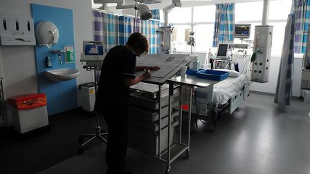 Stock photo of a nurse on a hospital ward, as the ONS reveals how many public sector jobs have been