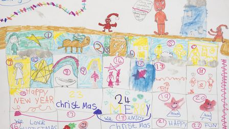 Countdown to Christmas by Imogen Lay, aged six, and Poppy Goodwin, aged eight.
