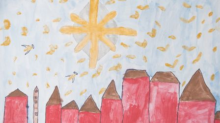 The star of Bethlehem, by Hettie Ogborn-Rich, aged 10 and Cordelia Smith, aged eight.