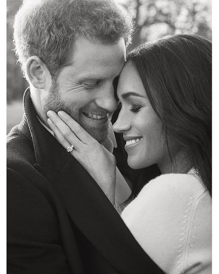 Prince Harry and Meghan Markle's engagement photos. Picture: Alexi Lubomirski