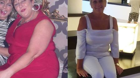 Helen Bowman before and after her weight loss (Photo: Slimming World)
