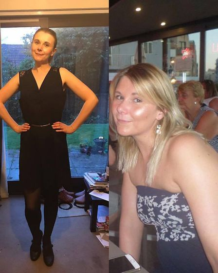 Michelle Filby before and after her weight loss (Photo: Slimming World)