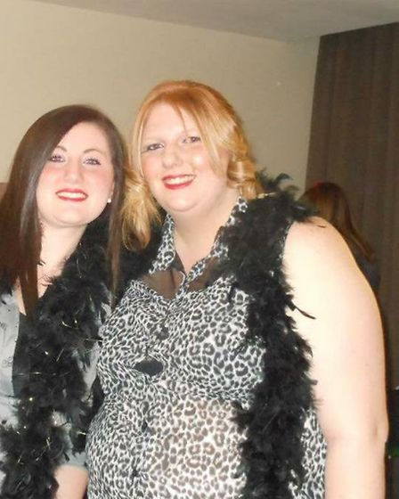 Samantha Anderson (right) before her weight loss (Photo: Slimming World)