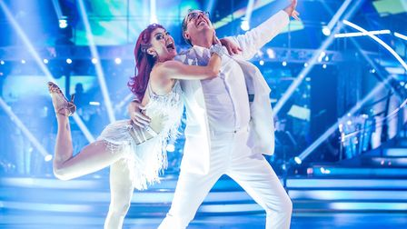 Rev Richard Coles and his dance partner Dianne Buswell on Strictly Come Dancing.Photo: Guy Levy/P