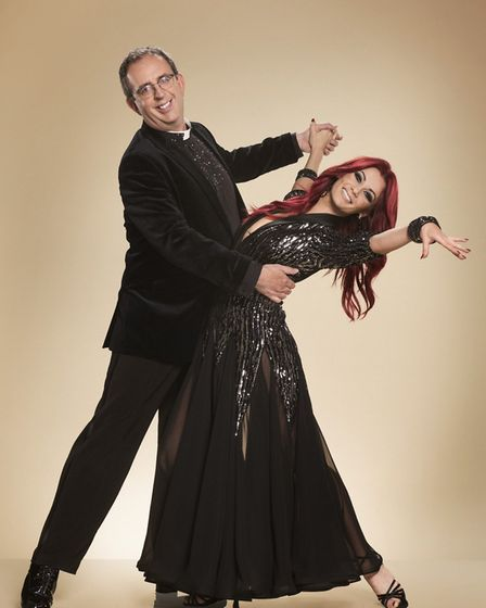 Rev Richard Coles and dancer Diane Buswell on Strictly Come Dancing 2017. Photo: Ray Burmiston/BBC