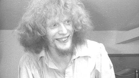 Cream drummer Ginger Baker, pictured backstage at The Industrial Club before their gig at the Oak St