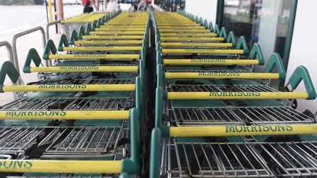 Shopping trolleys at the Morrisons store at Wymondham. Picture: DENISE BRADLEY
