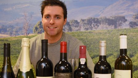 Eamon Fitzgerald, Naked Wines managing director, with a selection of wines. Picture: DENISE BRADLEY