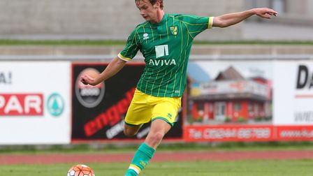 Cameron King in pre-season action for Norwich in Austria in 2015. Picture by Paul Chesterton/Focus I