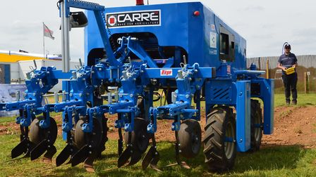 The Anatis crop-weeding robot, demonstrated at the 2017 Cereals Show in Lincolnshire. Picture: Chris