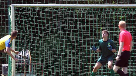 Jake Hallett in action during a pre-season training camp in Germany with Norwich City U23s last year