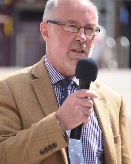 Martin Wilby, chairman of the council's environment, development and transport group, speaks at the