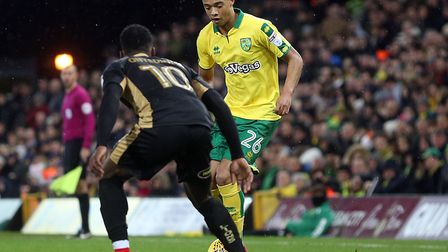 Jamal Lewis made his first Carrow Road start during City's win over Millwall on New Year's Day. Pict