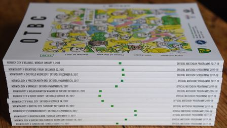 The OTBC matchday programmes designed by Matt Whitehead, creative director of Patterns of Play, show