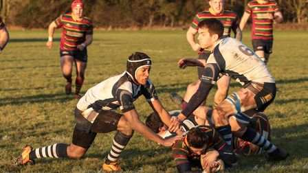 Conan Hoey touches down for Norwich in their final match before the festive break, a 59-7 home win o