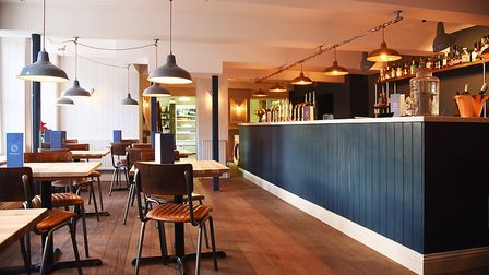 The brand new bar and seating area inside Goldings in King's Lynn. Picture: Ian Burt