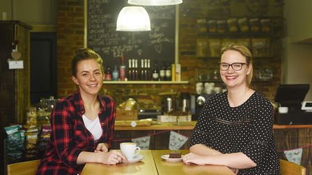 Inside the new deli at Goldings in King's Lynn are (L) Deli Manager, Katie Anderson and Marketing Ma