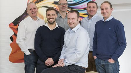 The board of directors at Signs Express in Norwich following a management buy-out (L-R) Mark Poole,