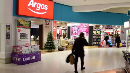 Posters for Argos' Black Friday event at the Castle Mall store. Picture: DENISE BRADLEY