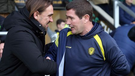 Daniel Farke was criticised for making so many changes over the festive period at Burton. Picture: P