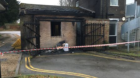 A fire broke out at the Fakenham Connect offices on Oak Street. Picture: Kathryn Cross