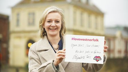 Liz Truss MP at the launch of the Love West Norfolk campaign. Picture: Ian Burt