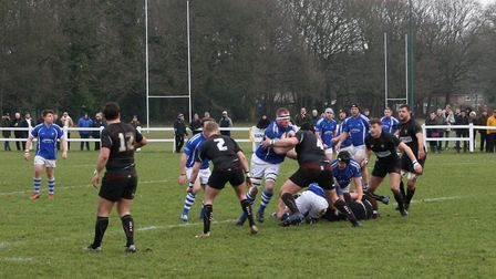 Diss attempt to take the game to high-flying Brentwood the previous Saturday. Picture: John Grist