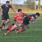 Holt on the front foot against Thetford on Saturday. Picture: Stuart Young