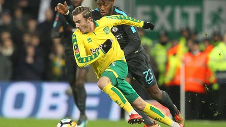James Maddison gets the better of Michy Batshuayi as Norwich City and Chelsea play out a goalless dr
