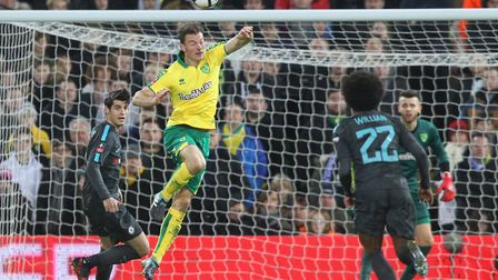 Norwich City centre-back Christoph Zimmermann - so good, he can do it with his eyes closed. Picture: