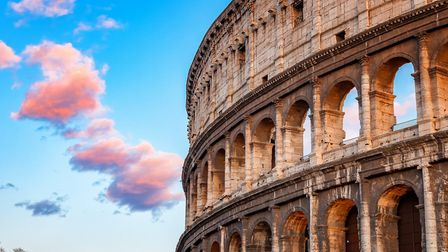 Colosseum at sunset in Rome, Italy. Picture: THINKSTOCK