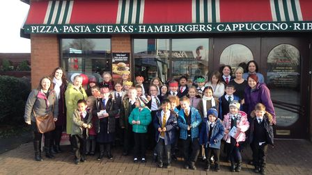 Nelson Academy students visited Frankie and Benny's Restaurant in Kings Lynn for a celebratory lunch