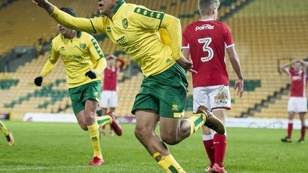 Adam Idah scored a hat-trick in the last round of the FA Youth Cup for Norwich City. Picture by Matt