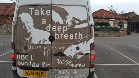 The picture is lifted from one of Ruddy Muddy's trademark van designs. Picture: Ruddy Muddy