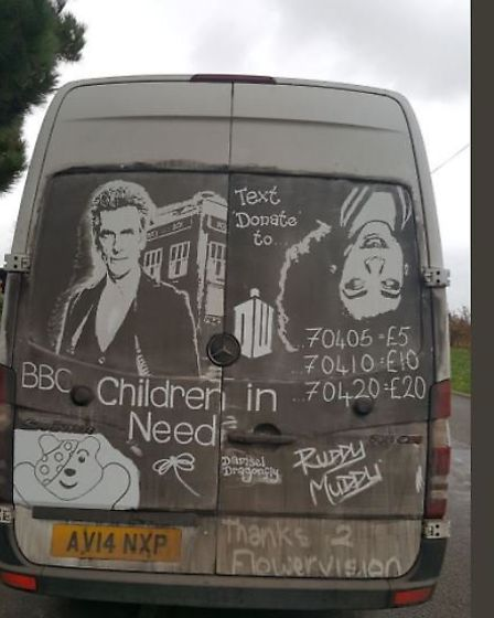 Ruddy Muddy's Doctor Who and Children in Need piece