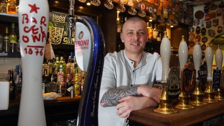 Andrew Coe, landlord of the Compleat Angler, delighted that the pub is flourishing after becoming a