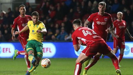 January 2017 signing Yanic Wildschut scored his first Norwich City goal in the 1-1 draw at Bristol C