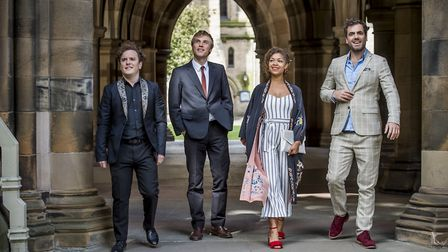Lovesick - Angus, Dylan, Evie and Luke from the Netflix sitcom
