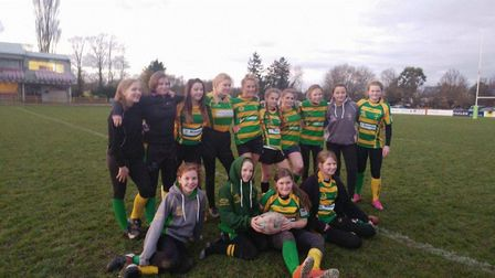 Girls enjoying their rugby with Crusaders at Little Melton. Picture: Club