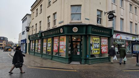 The Greenwoods clothing store in Great Yarmouth is closing down. Photo: George Ryan